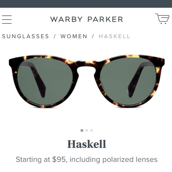 8ae201f0d1 Warby Parker Haskell sunglasses with polarized. M 5ad4e24e2c705d4b5ac1b75b
